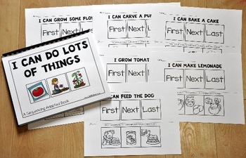 """Sequencing Activities--""""Sequencing Adapted Book I and Worksheets"""""""