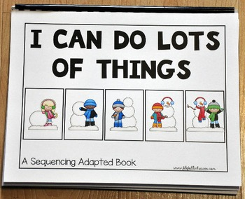 """Sequencing Activities--""""Sequencing Adapted Book III and Worksheets"""""""