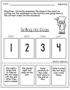 Sequencing Activities for Summer
