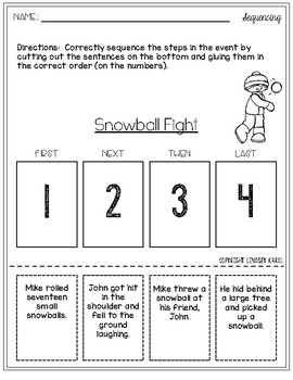 Sequencing Activities for Winter