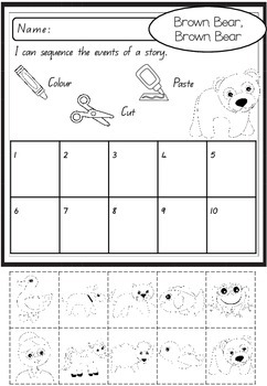 Sequencing Activity - Brown Bear, Brown Bear, What do you see?