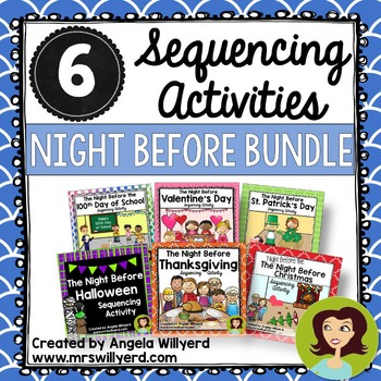Sequencing Activity Bundle - The Night Before Series