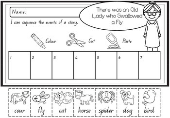 Sequencing Activity - There was an Old Lady Who Swallowed a Fly