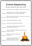 Sequencing Activity Worksheet - S'mores FREEBIE!