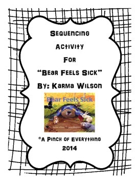 Sequencing Activity for Bear Feels Sick