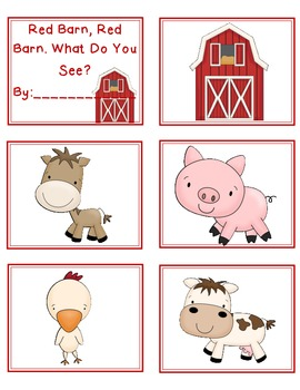 Sequencing Activity for Red Barn, Red Barn, What Do You See?