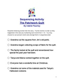 Sequencing Activity for The Patchwork Quilt by Valerie Flournoy