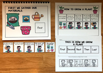 """Sequencing Adapted Book:  """"How to Grow a Plant"""""""