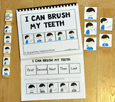 "Sequencing Adapted Book--""I Can Brush My Teeth"""