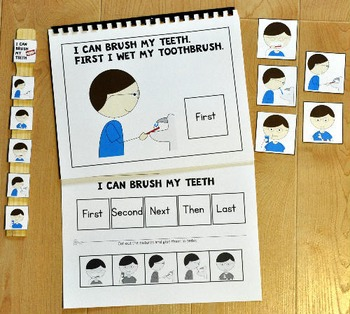 """Sequencing Adapted Book--""""I Can Brush My Teeth"""""""