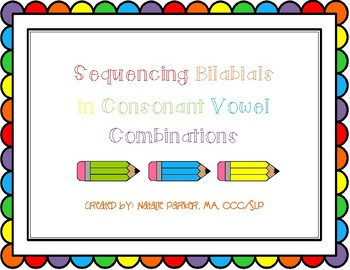 Sequencing Bilabials in CV Combinations
