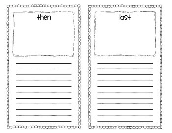 Sequencing Book Using First, Next, Then, Last FREEBIE!