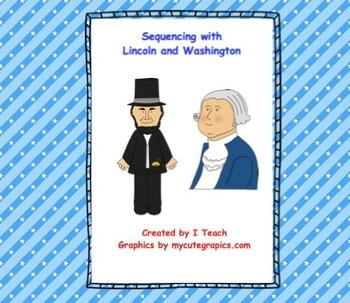 Sequencing Bundle- Abraham Lincoln & George Washington- SMARTboard
