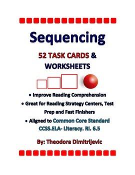 Sequencing Bundle (Includes 52 Task Cards) C. C. Standard ELA-Literacy.RI.6.5