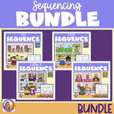 Sequencing Bundle! Sequencing Cards, Questions/prompts + cut & paste sheets