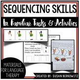Sequencing Stories with Pictures for Speech Therapy | Familiar Tasks Bundle