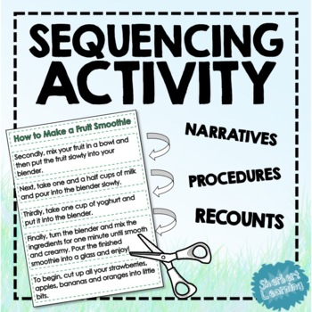 Sequencing Cards and Worksheets - Comprehension Activity for Reading Groups