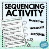 Sequencing Cards and Worksheets - Comprehension Activity f