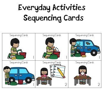 Sequencing Cards and Writing Pages Bundle