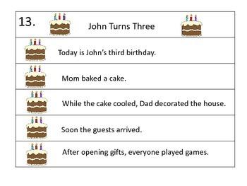 Sequencing Center--30 Five Sentence Stories