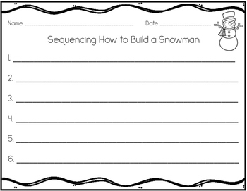 Sequencing Center with Pictures and Sentences