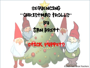 """Sequencing :""""Christmas Trolls"""" Stick Puppets"""