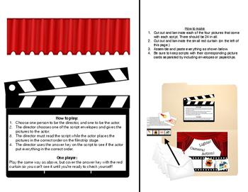 Sequencing Cinema (file folder game)