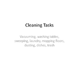 Sequencing: Cleaning Tasks