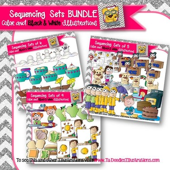 Sequencing Clip art BUNDLE
