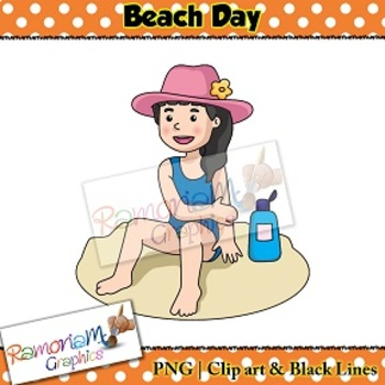 Sequencing Clip art - Beach Day