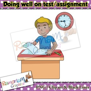 Sequencing Clip art - Doing well on test/assignment