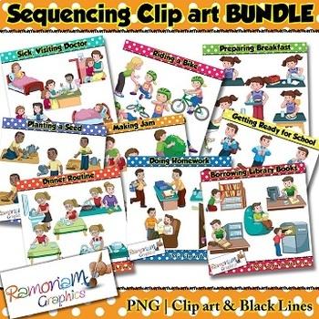 Sequencing Clip art Bundle