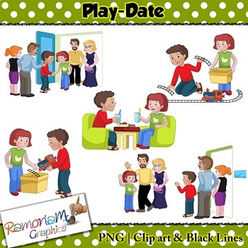 Sequencing Clip art - Play date