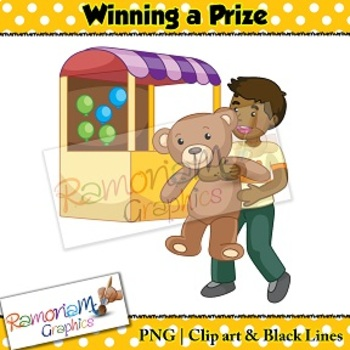 Sequencing Clip art - Winning a prize