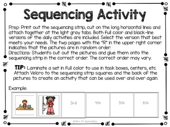 Sequencing: Daily Activities {FREEBIE}