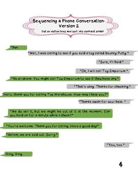 Sequencing Dialogue in Conversations Bundle
