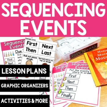 Sequencing Events | Complete Lesson Plan | Anchor Charts | 10 Graphic Organizers