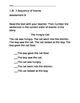 Sequencing Events Assessment