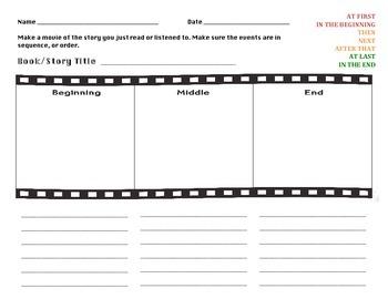 Sequencing Events Movie Strip Organizer