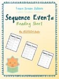 Sequence Events Reading Sheets for Daily 5 and Raz Kids