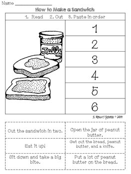 Sequencing Events for 1st & 2nd Grades