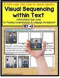 Sequencing Events with Pictures & Text Task Cards Autism/Special Education SET 2