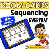 Sequencing Everyday Story Pictures Activity Boom Cards Digital Game