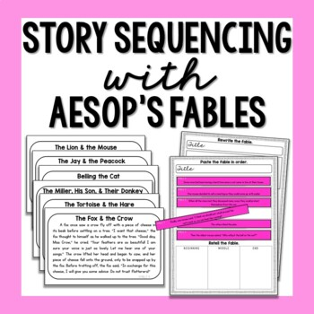Story Sequencing Puzzles: Fables