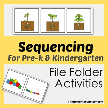 Sequencing File Folder Activities for Preschool and Kindergarten
