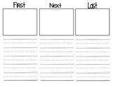 Sequencing (First, Next, Last) Writing