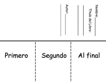 Sequencing Flipbook-Spanish
