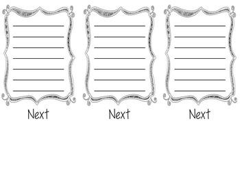 Sequencing Flipbook Template