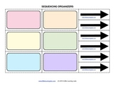 Sequencing Flow Chart Graphic Organizers set