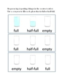 Sequencing Full Half-Full Empty Following Directions Emergent Reader Printable